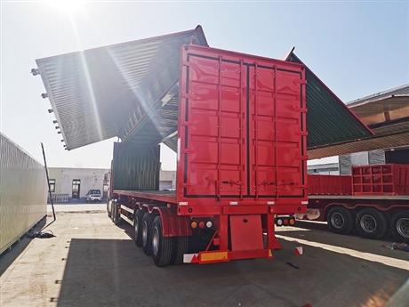 15米翼展开启厢式车14米飞翼厢式拖挂车13.95米危险品骨架运输车