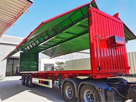 14米翼展开启厢式半挂车15米飞翼厢式拖挂车13.95米骨架运输车