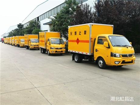 东风途逸易燃气体厢式运输车,厂家地址,新疆气瓶运输车价格