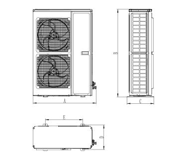 烟台格力冷库GNJ-QF系列 全封闭风冷冷凝机组GNJ- QF3CG/ NaC
