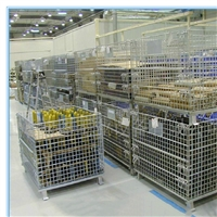 无锡可折叠仓储笼工厂源头  皓盛自有工厂  非标定做  用料实在