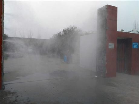 养殖场强制车辆自动消毒设备 立柱对喷 快速消毒