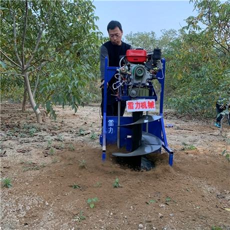 汽油挖树坑机打洞效果评测
