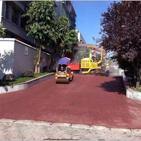 重庆沥青路面摊铺 彩色沥青施工工程 改性沥青道路铺设