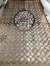 广东欧式镜面玫瑰金不锈钢屏风厂家欢迎来图定制