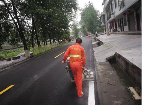 重庆道路振荡划线施工公司 地下停车库设施安装