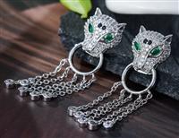豹頭耳環925銀針鋯石耳環生產廠家