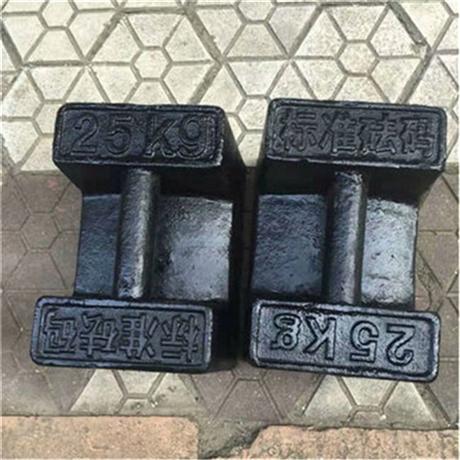 韶山供应标准砝码 压重试验25公斤锁型砝码 带提手25kg法码