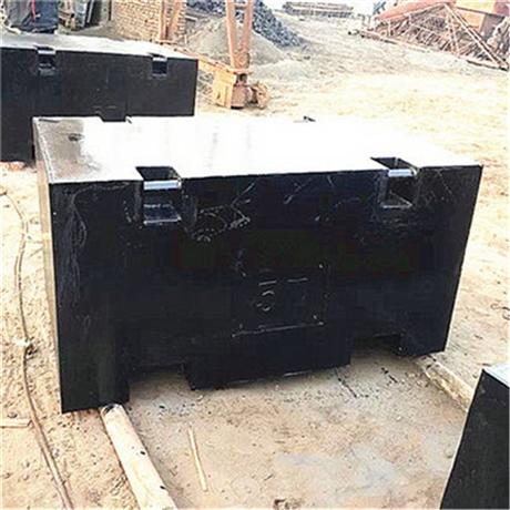 大连10吨配重砝码 港口重型机械配重用10T标准砝码价格