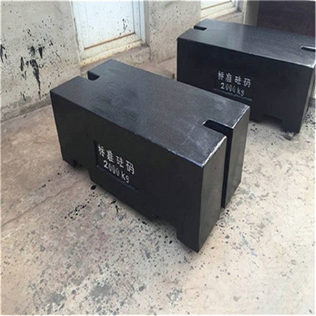 秦皇岛磅秤砝码 检验大地磅2吨铸铁砝码 M1-2T平板方形法码