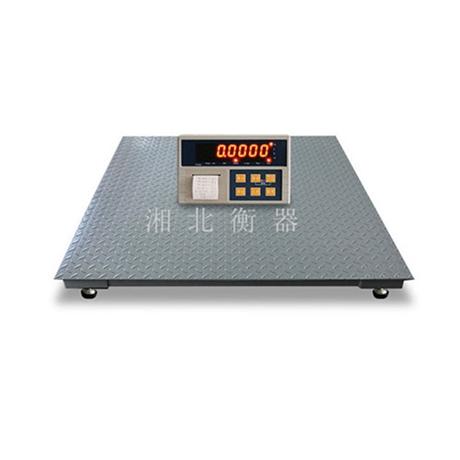 衡阳电子磅秤2吨报价 3000斤不干胶打印地磅 SCS-1T平台秤