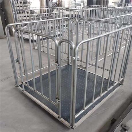 铜仁1吨电子牲畜秤 可称5头猪的电子地磅尺寸1.5x2米猪笼秤
