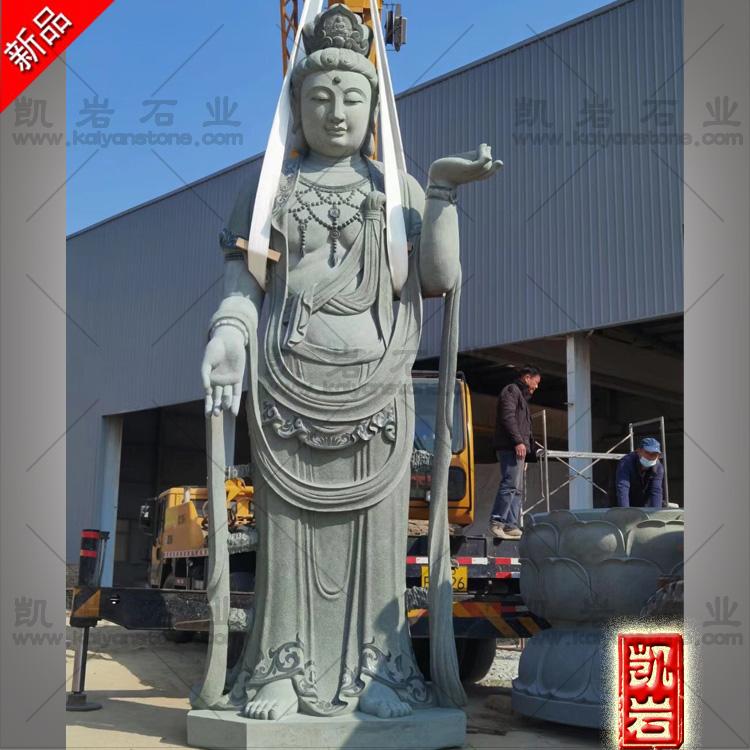 供应石雕观音厂家  惠安石雕三十三观音  大型石雕观音菩萨