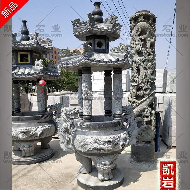 供应寺庙石雕香炉 泉州石雕香炉厂家  定制大小型香炉石雕