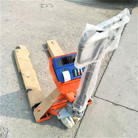 武汉不干胶打印叉车秤 3000公斤地牛秤 搬运叉车带称重系统