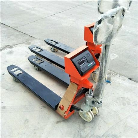 天津2吨电子液压叉车秤 液压铲车秤 托盘称重液压手动叉车地磅秤