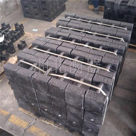 开封电梯校验砝码25kg锁型铸铁砝码厂家