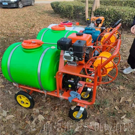 推车移动消毒机 养殖场灭菌消毒喷雾机 宏晨推车式喷雾机