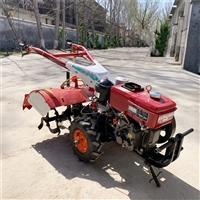 小型农用15马力手扶拖拉机 单杠水冷常柴旋耕犁地打田机