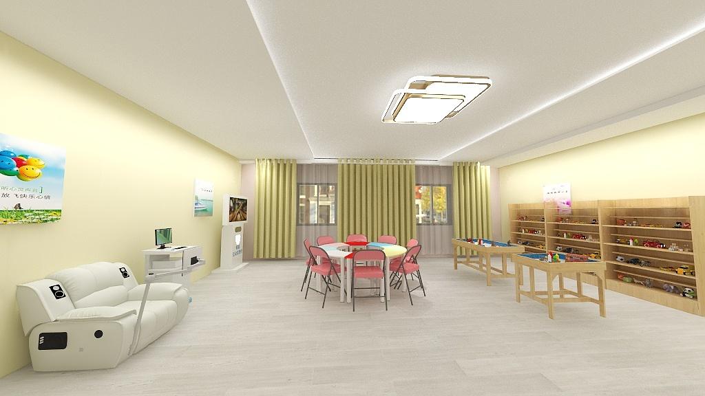 心理室方案 心理咨询室效果图 单房间心理室方案