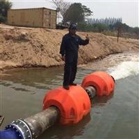 大壩取水口疏浚清淤工程塑料管道浮體 水上抽沙工程管道浮筒