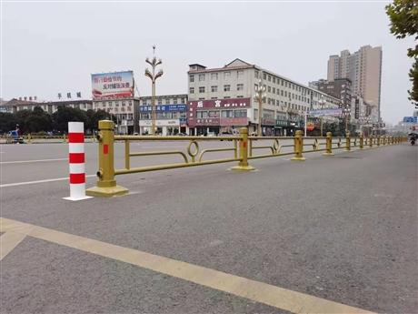 河南申济工厂直供市政安全防护栏杆支持来图定制