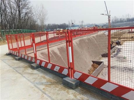 河南申济工厂直供支持定制井口安全防护门基坑围挡