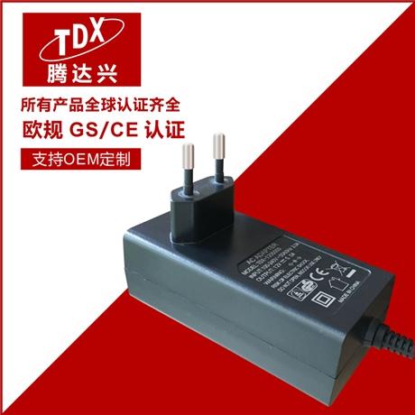 腾达兴12v3a欧规电源适配器 欧规CE认证12v3a扫地机开关电源
