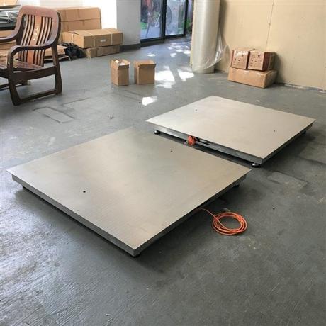 云南带斜坡不锈钢地磅 2T/0.5kg防水电子秤 1.2x1.2m2吨平台地磅称