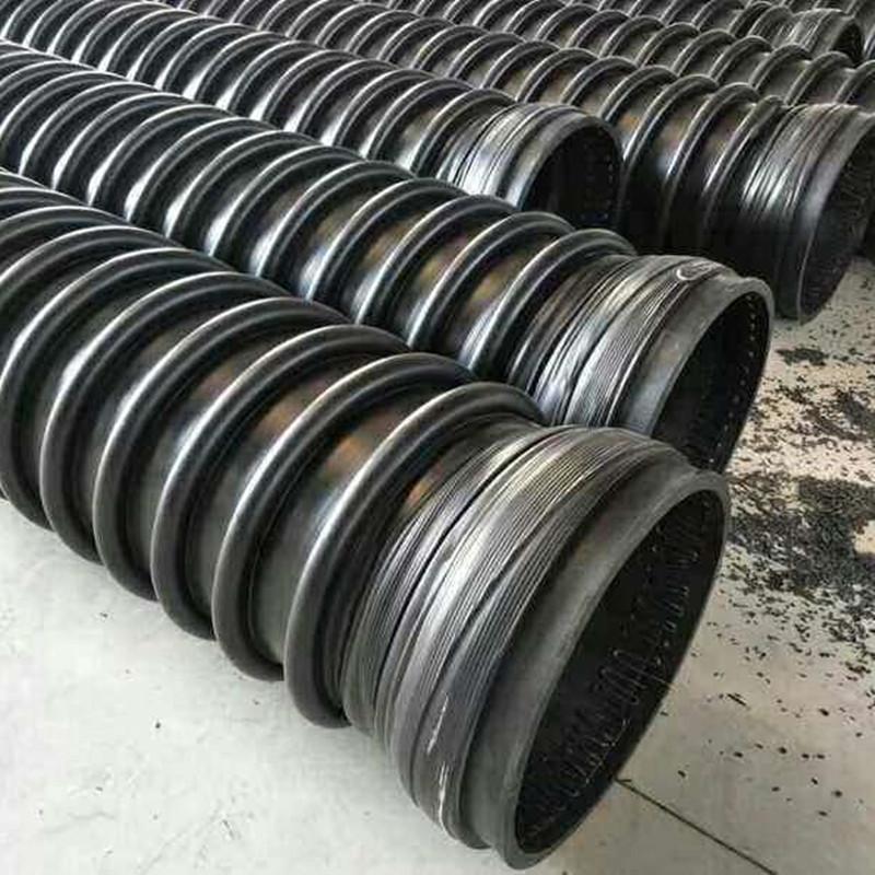 陕西克拉管厂家 HDPE缠绕B型排污管 高抗压聚乙烯排水管