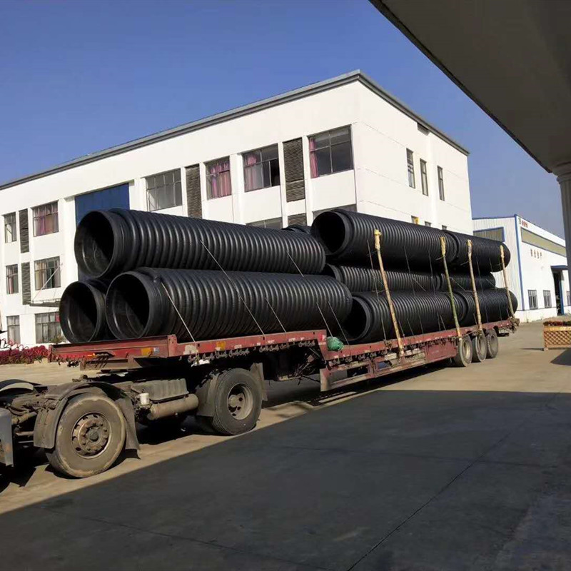 青海克拉管厂家 聚乙烯缠绕增强缠绕管 扩口电熔连接排水管