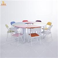 团体活动桌8色 团体活动器材 团体活动室建设方案