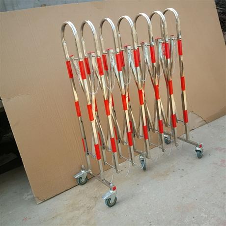 不锈钢伸缩护栏 拱门可移动安全围栏 门卫 红白相间