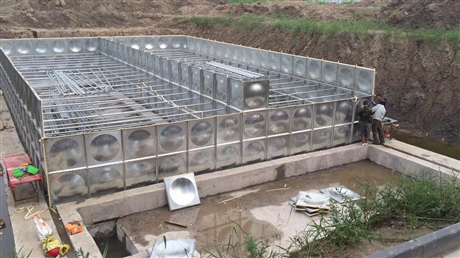 供应可定制304方形不锈钢水箱 工程消防水箱 生活不锈钢保温水箱