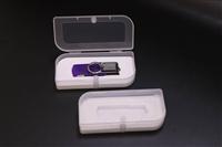 伟胜透明20mm迷你磁扣USB盒塑胶扣翻盖优盘包装盒可定制