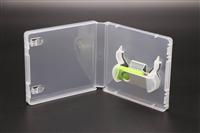 伟胜透明16mm单USB盒旋转优盘储存盒U盘礼品塑料包装盒