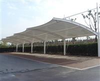 武汉膜结构停车棚移动推拉雨棚