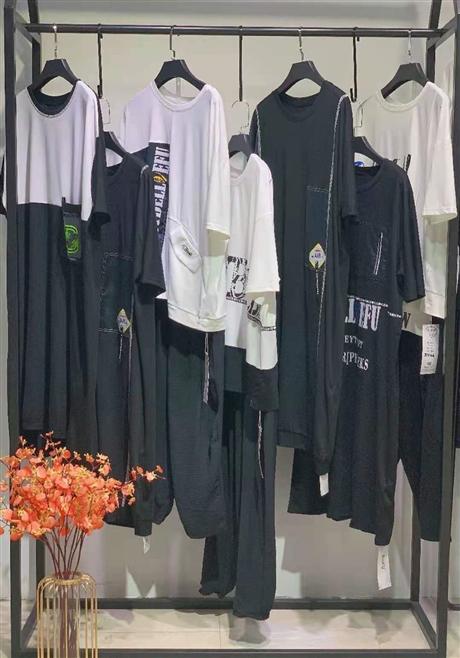 广州华景国际品牌折扣女装 大码女装 EFU依傅21夏宽松显瘦欧美风