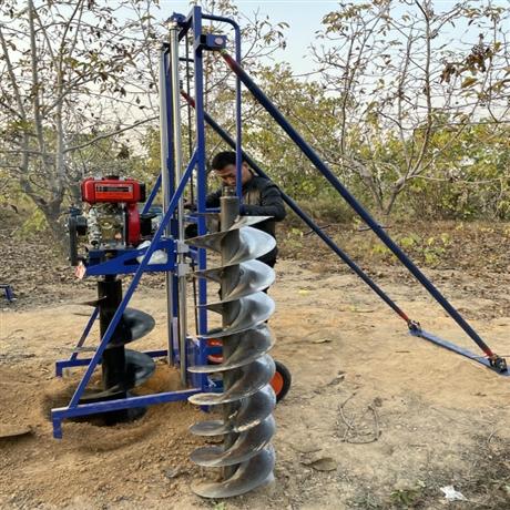 栽电杆打洞机器新型钻孔设备