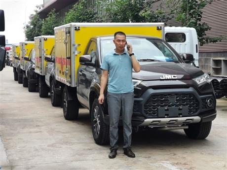 矿用爆破器材运输车厂家  0.8吨江铃四驱 皮卡爆破器材运输车价格