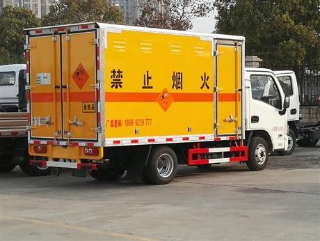 上汽跃进国六民爆车,爆破器材运输车,国六小型爆破运输车厂家销售到四川