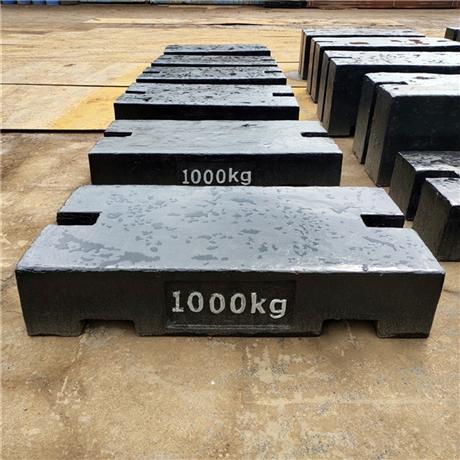 实验配重1000公斤标准砝码出租价格 株洲供应2吨锁型铸铁砝码