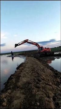 佛山广州周边水陆挖掘机出租施工