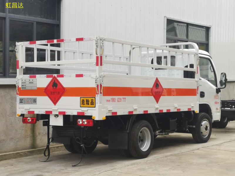 跃进气瓶运输车 钢瓶仓栏运输车  2类易燃气体栏板车 厂家价格