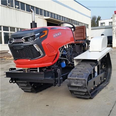 50水田专用履带拖拉机 农场果园开荒拖拉机 50马力柴油动力拖拉机