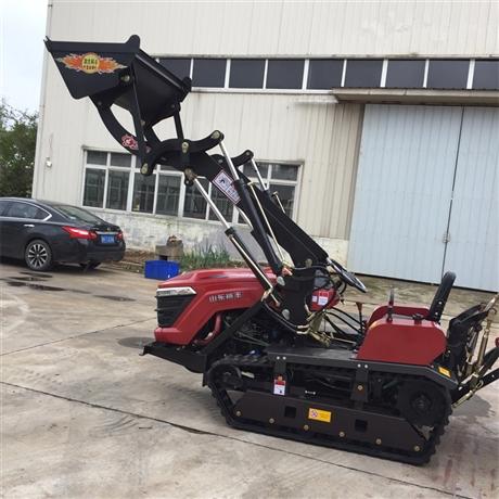 502拖拉机加装工程铲斗 厂家定制铲斗拖拉机 多功能拖拉机图片